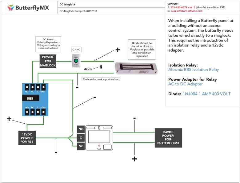altronix relays wiring diagrams installer documentation butterflymx  installer documentation butterflymx