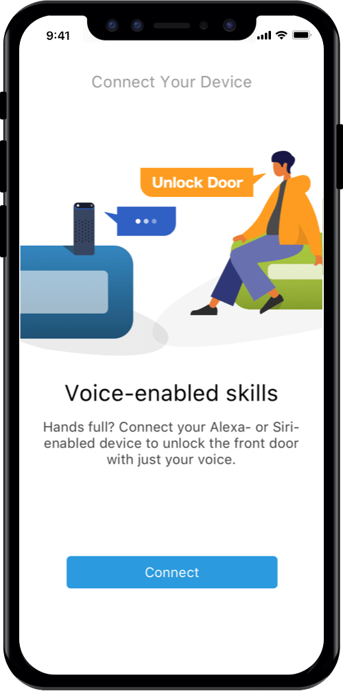 Open the door or gate by voice