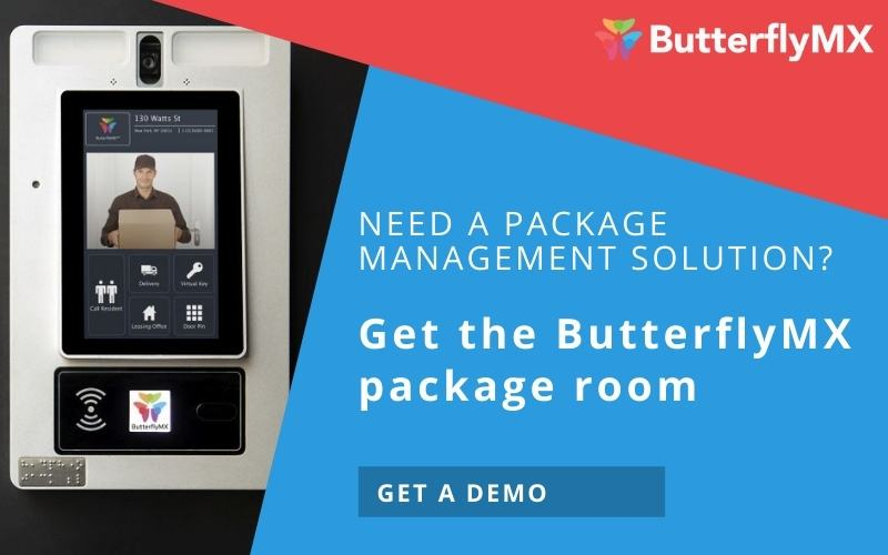 get the ButterflyMX package room
