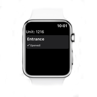 Open the door or gate with an Apple Watch