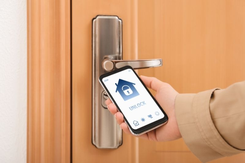 open smart lock with mobile app