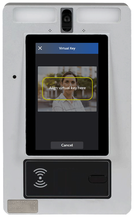 Line up the virtual key on the ButterflyMX video intercom