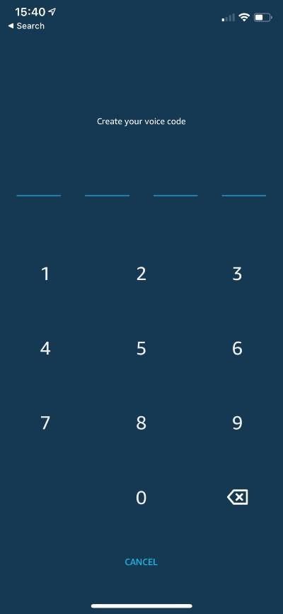 Create a PIN to connect Alexa