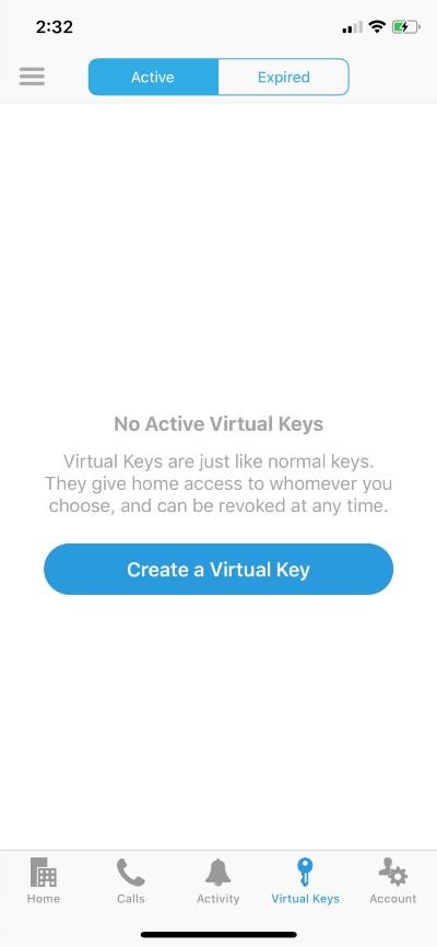 Create virtual keys in the ButterflyMX app