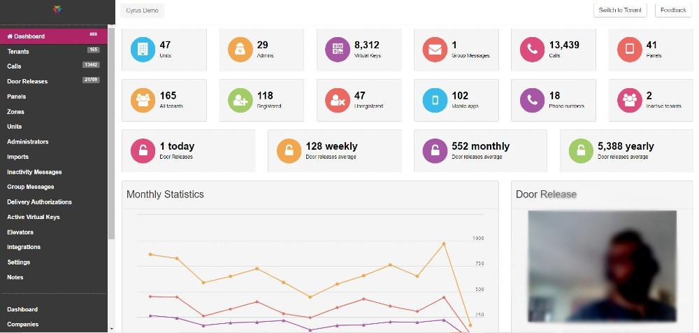 ButterflyMX property management dashboard