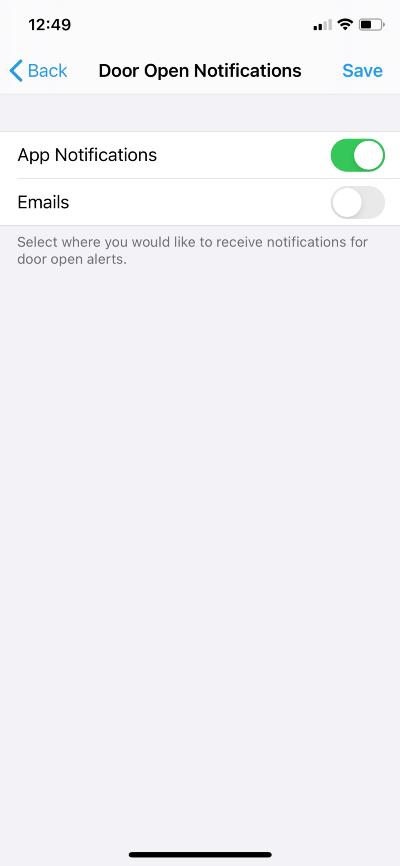 Manage door open notifications in the ButterflyMX app