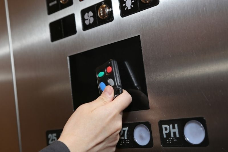 Intercom elevator controls