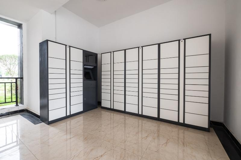 package lockers in apartment building