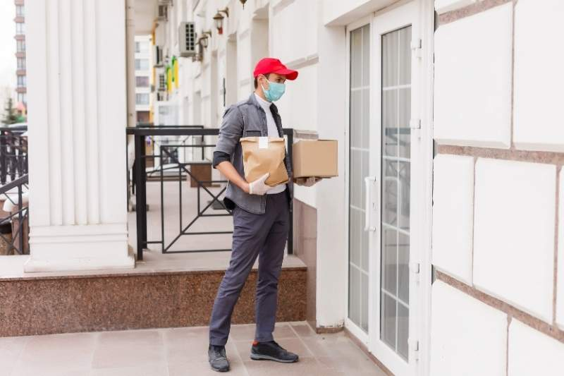 enable contactless delivery in commercial building