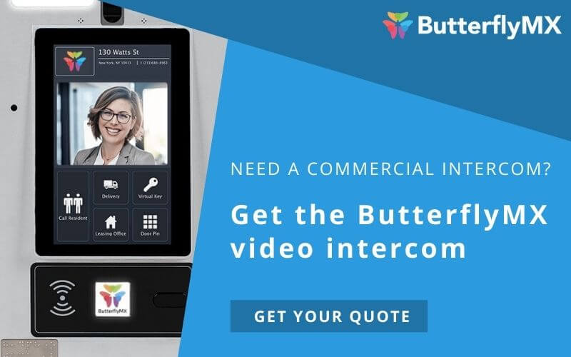 Try the ButterflyMX commercial video intercom
