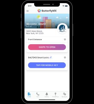 SasltoKS mobile key in the ButterflyMX mobile app