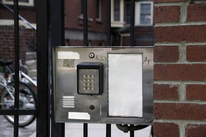 gate access control keypad