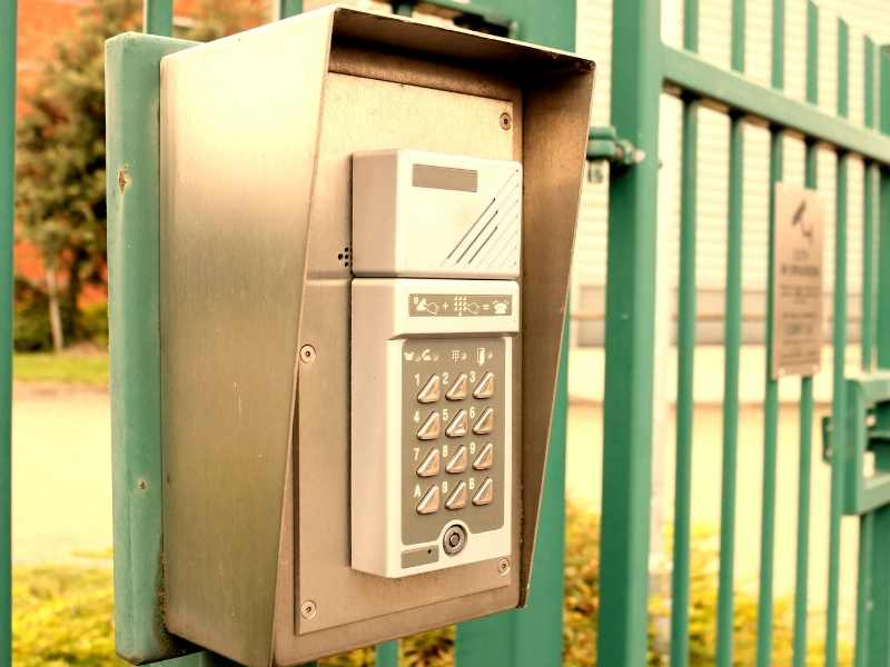 gate access control telephone entry system