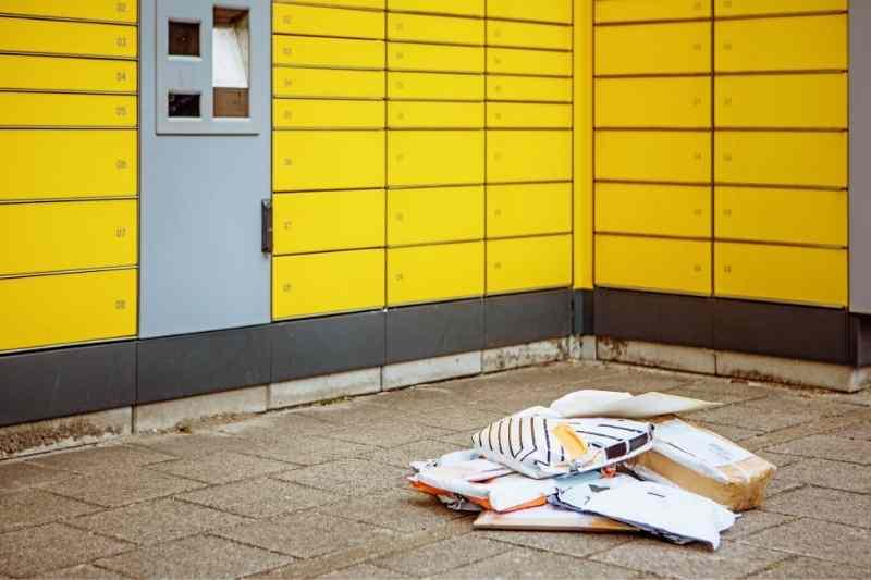 parcel pending outdoor lockers
