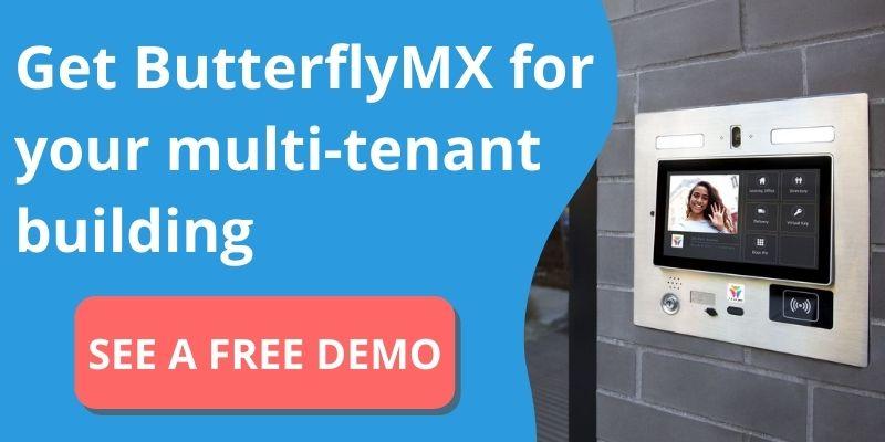 get butterflymx multi-tenant intercom system