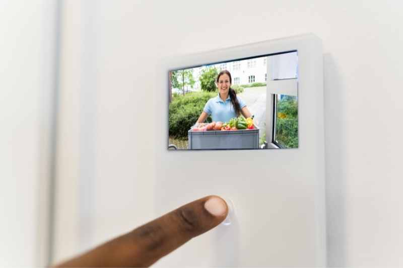 video door entry system in unit