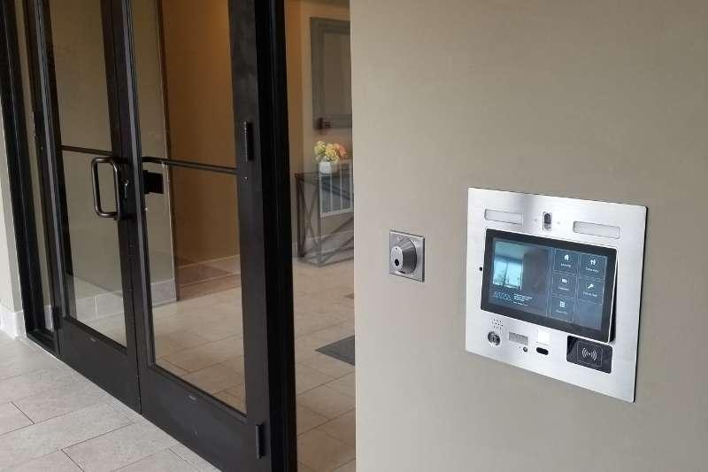 ip intercom with camera entryway