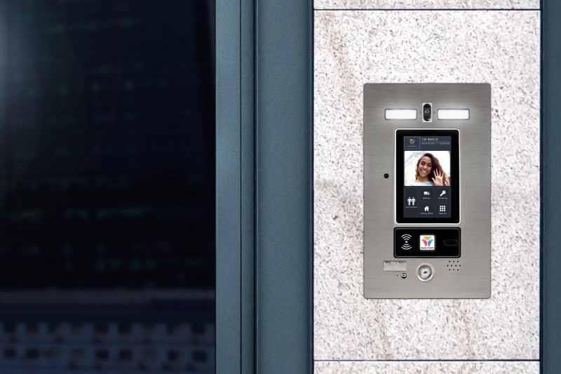 ButterflyMX intercom install at entrance