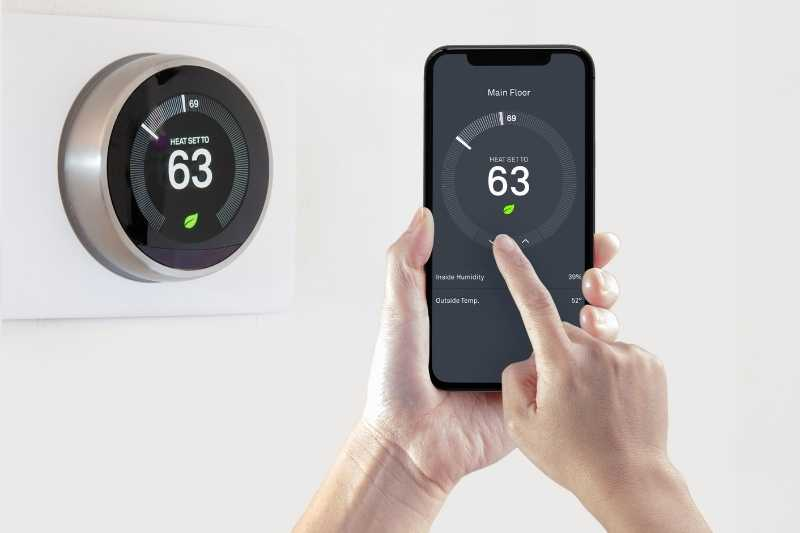Control smart apartment temperature with smart thermostats