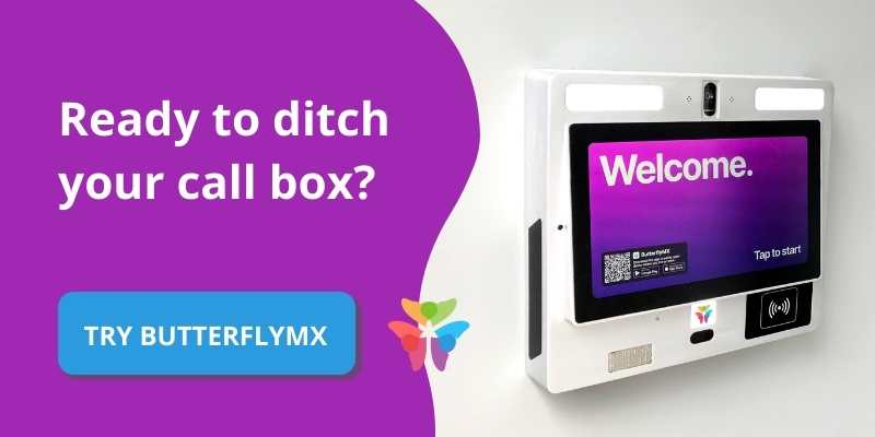 ditch call box for ButterflyMX