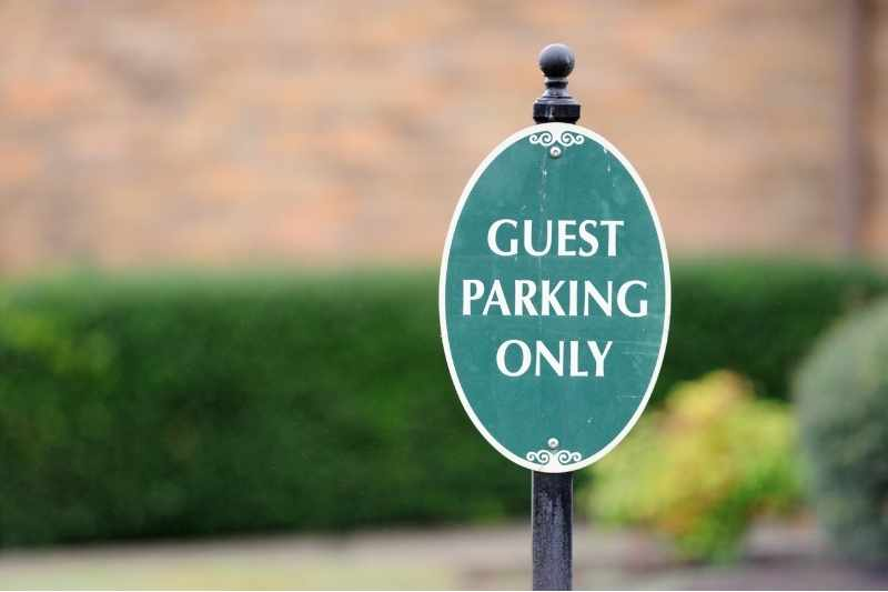 guest parking sign for multifamily budget