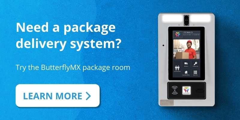 try the ButterflyMX package delivery system