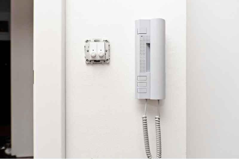 sip phone on wall
