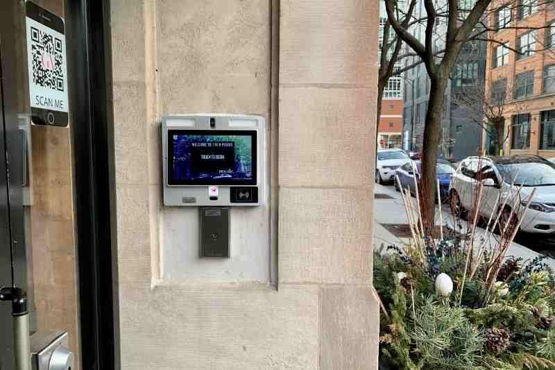 video intercom alternative to a door buzzer system with camera