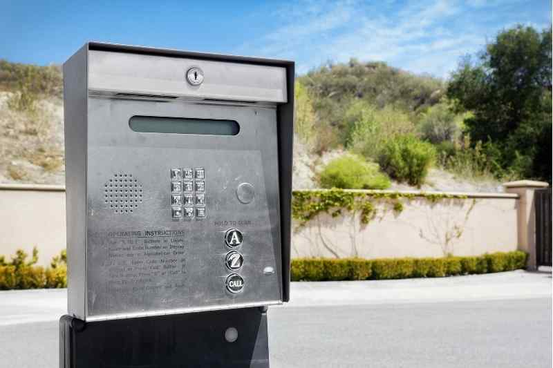 gate telephone entry system base station