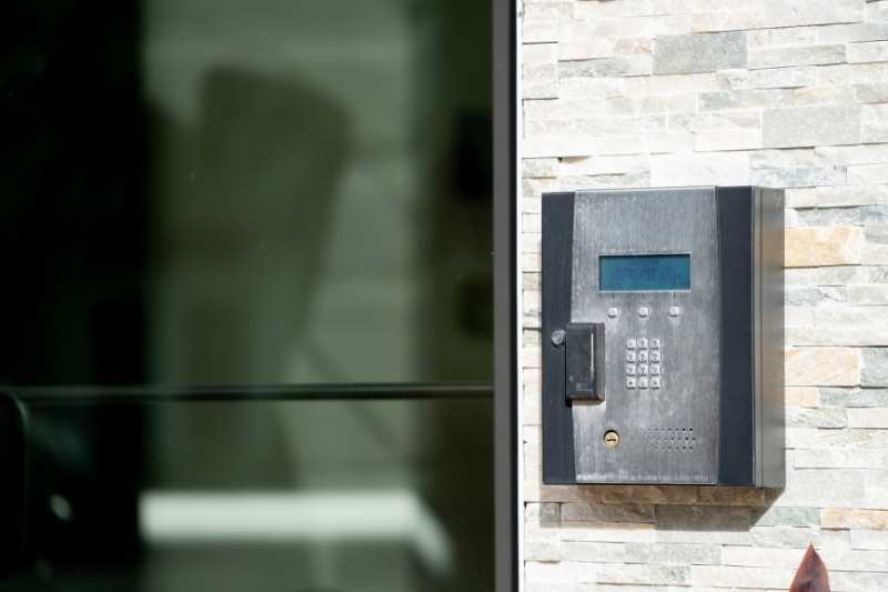wireless call box at apartment front door