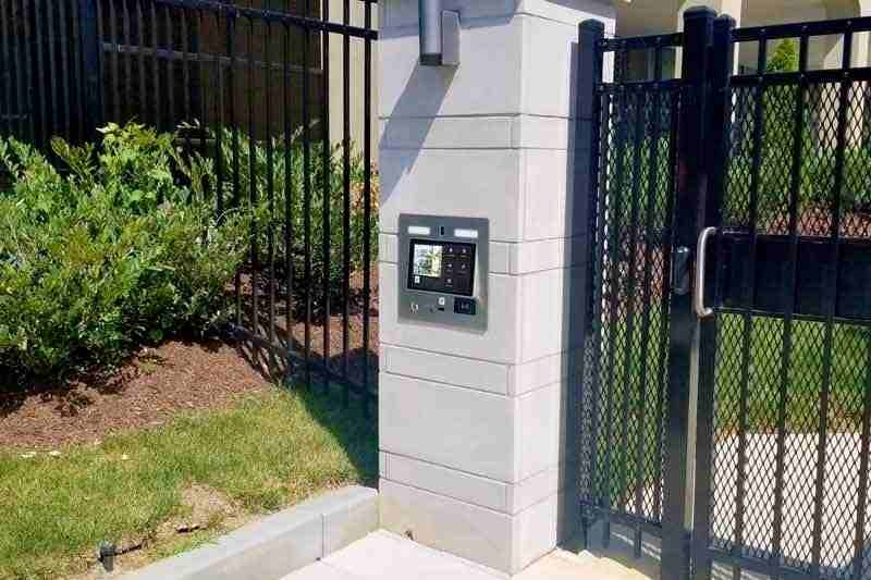 wireless call box installed at gated community