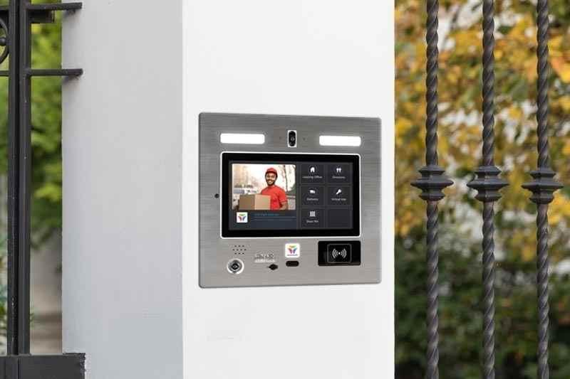 flush mounted wireless outdoor intercom system