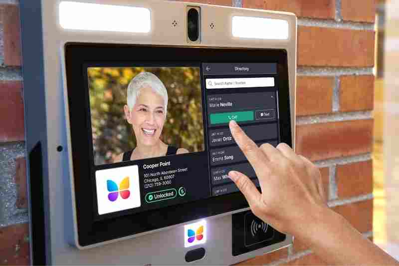 Visitor using multi-tenant video intercom