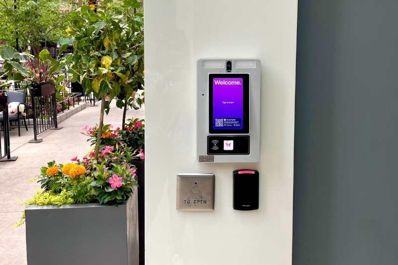 multi-tenant video intercom system at building entry